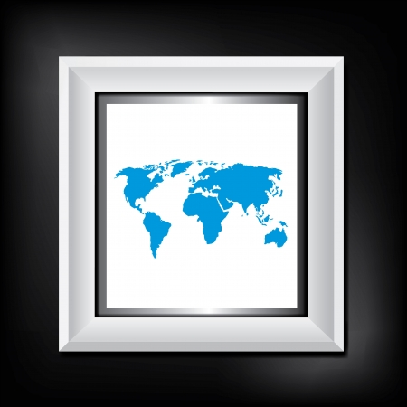 modern frame on dark modern wall Vector