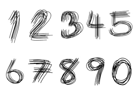 number eight: Numbers set