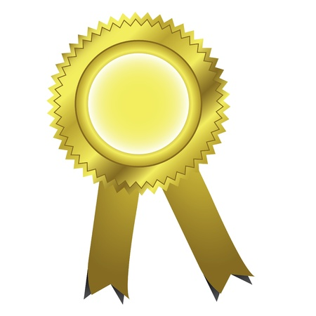 Gold ribbons award Vector