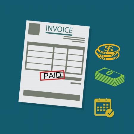 pay bill: invoice Illustration