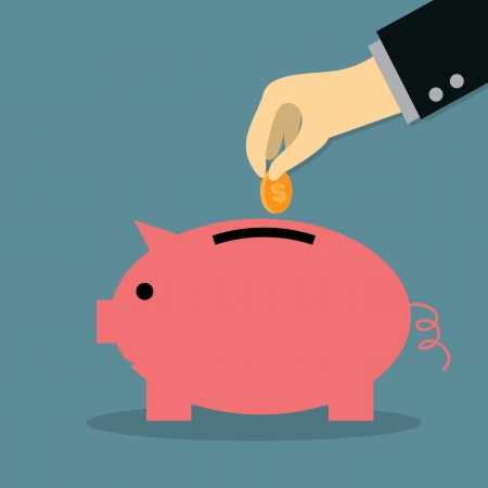 Saving Money Ilustrace