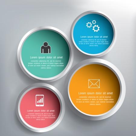 抽象的な 3 D サークル インフォ グラフィック デザイン