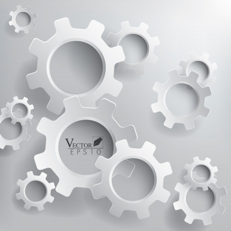 Abstract 3D Gears background Çizim