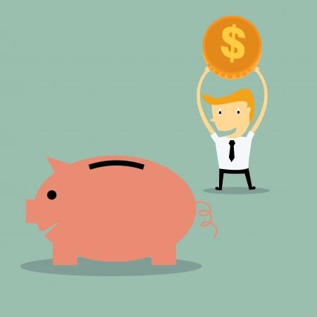 businessman saving money Vector