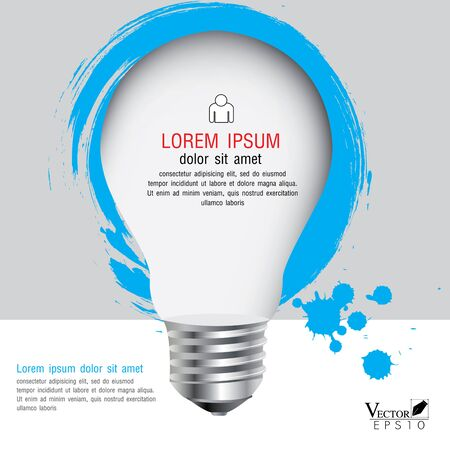 light bulb with infographics, illustration Modern template Design Vector