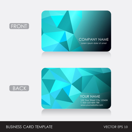 Business Card template  Vector illustration  EPS10 Illustration