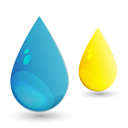 water and oil drop Vector illustration  Stock Vector - 23074472