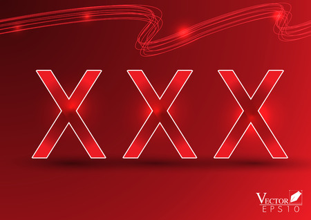 pornography: xxx on red