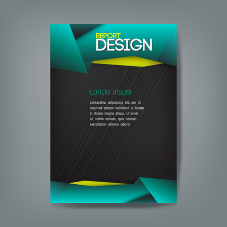 poster concepts: Cover report Vector design template origami modern style. Vector illustration. Can use for business data report, presentation, web page, brochure, leaflet, flyer, poster and advertising.