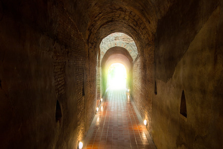 Light at the end of tunnel with Natural lighting.