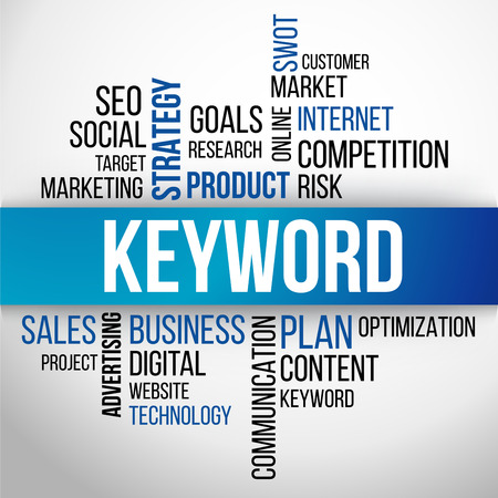Keyword Word Cloud, business Concept Background Vector Illustration