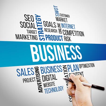 Zakelijk woord wolk, business concept Stockfoto