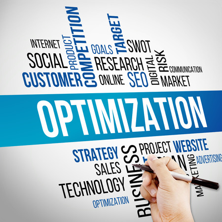page rank: Optimization Word Cloud, business Concept