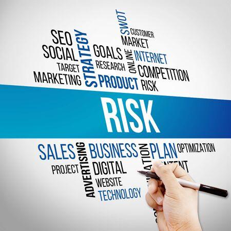 business risk: Risk Word Cloud, business Concept