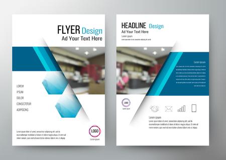 Diseño de la disposición del modelo del folleto. Para el informe anual