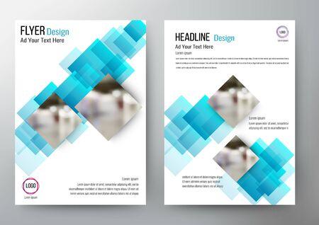 design Layout Template Brochure. Vector Illustration