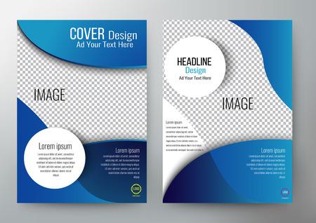 couvrir la conception brochure du modèle, dépliant, rapport annuel, couverture de magazine, livre, affiche, impression et site web. illustration layout en format A4.
