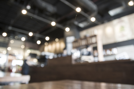 blur image in coffee shop with bokeh