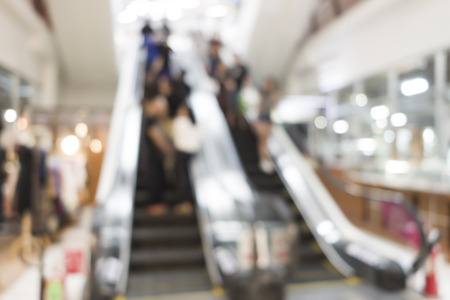 blur image of shopping mall and people with abstract bokeh Stok Fotoğraf