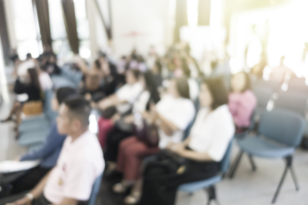 blurred people in seminar room event business concept Stok Fotoğraf