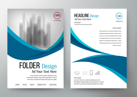 folder design flyer template vector Stok Fotoğraf - 79645791
