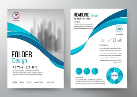 folder design flyer template vector Stok Fotoğraf - 79643100