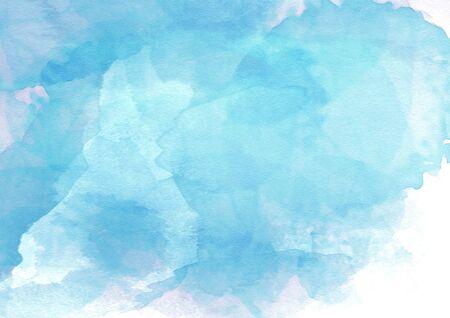 blue watercolor background Stok Fotoğraf - 80781782