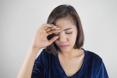 Woman is feeling sick and holding his head. Headache. Stok Fotoğraf - 81966058