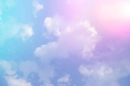 Colorful sky and clouds, pink and blue color background Stok Fotoğraf - 82400671