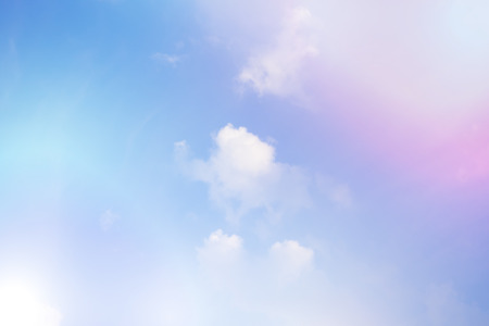 Colorful sky and clouds, pink and blue color background Stok Fotoğraf - 82400673