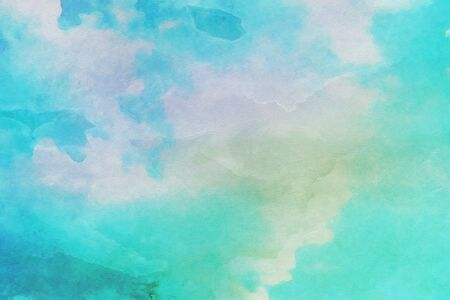 sky and clouds with watercolor, abstract watercolor background illustration