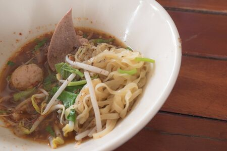 thicken: thai noodle thicken soup