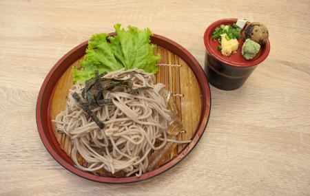 Zaru soba (Japanese noodle cold) Stock fotó