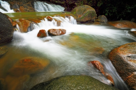 namtok: Waterfall in Thai National Park, Namtok Phile Waterfall, Namtok Phile National Park, Chanthaburi Province, Thailand Stock Photo