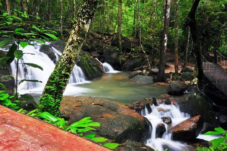Waterfall in Thai National Park, Namtok Phile Waterfall, Namtok Phile National Park, Chanthaburi Province, Thailand photo