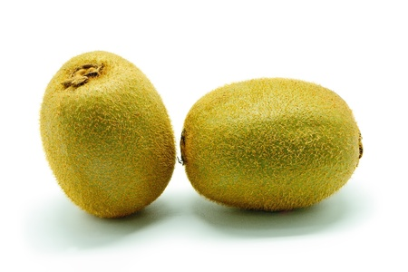 Hairy fresh Kiwi fruit, isolated on a white background photo