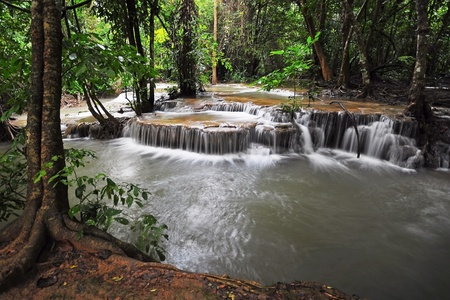 khamin: Waterfall in Thai National Park, Huay Mae Khamin Waterfall, Sai Yok National Park, Kanchanaburi, Thailand
