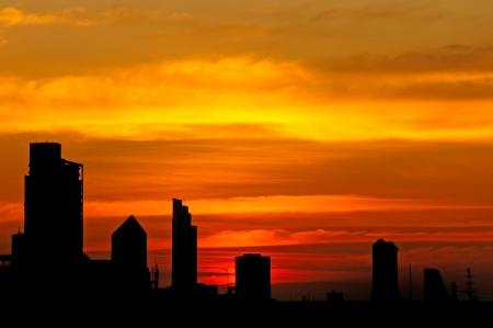 bangkok city: Sundown in Bangkok city, Thailand Stock Photo
