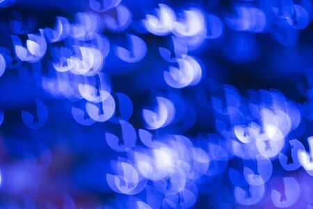 Colorful bokeh lights, abstract blur background in night Stock Photo