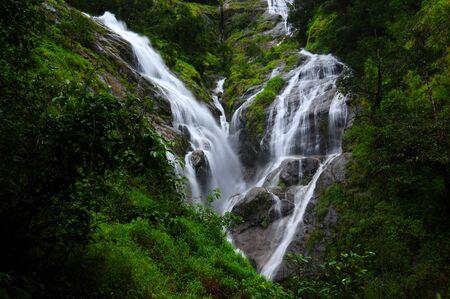 heart shaped: Heart Shaped Waterfall, Thailand Stock Photo