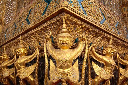Golden Garuda at Wat Phra Keaw Temple in Grand Palace,Thailand photo