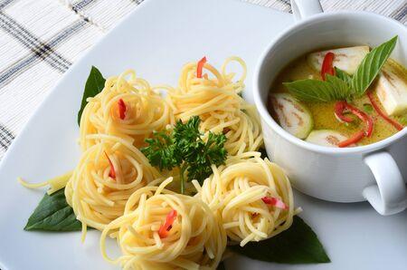 Chicken Curry Thai Food Imagens
