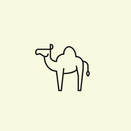 Camel icon vector design in thin line style