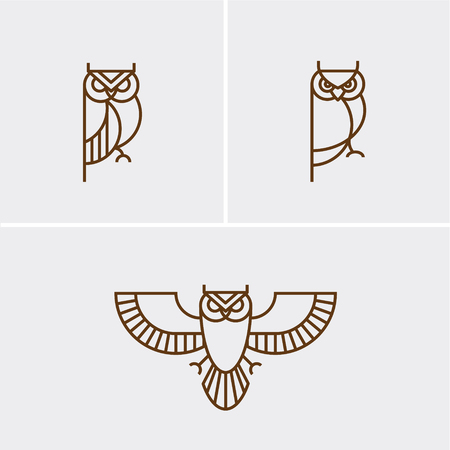 Hipster linear owl Çizim