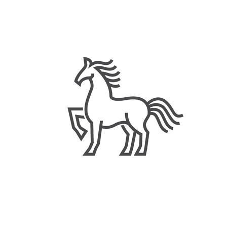 Horse  icon design in simple line style