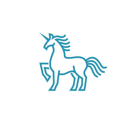 Unicorn icon in simple line style Illustration