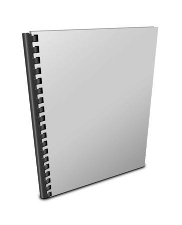 espiral: cuaderno de espiral en blanco sobre fondo blanco