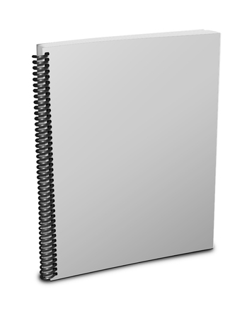 notebook cover: Blank notebook cover over white background