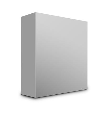 package sending: Blank box on white background