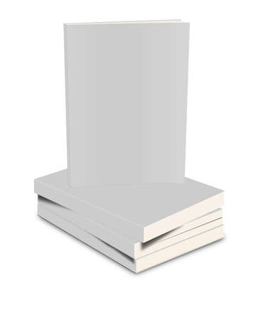 closed book: White closed book on white background Stock Photo